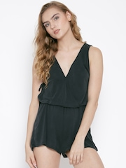 FOREVER 21 Charcoal Grey Playsuit