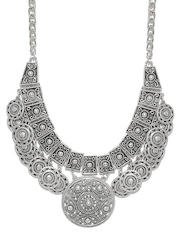 FOREVER 21 Oxidised Silver-Toned Statement Necklace