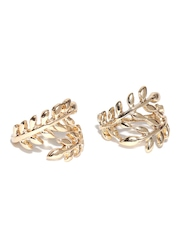 FOREVER 21 Set of 2 Gold-Toned Leaf-Shaped Rings
