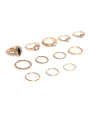 FOREVER 21 Set of 12 Gold-Toned Rings