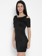 ONLY Black Polyester Bodycon Dress