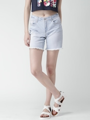 FOREVER 21 Blue Washed Denim Shorts