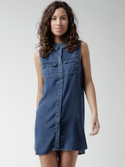 FOREVER 21 Blue Denim Shirt Dress