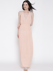 FOREVER 21 Peach-Coloured Maxi Dress