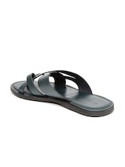 U.S. Polo Assn. Men Teal Blue Genuine Leather Sandals