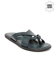U.S. Polo Assn. Men Teal Blue Genuine Leather Sandals