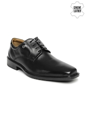 Arrow Men Black Genuine Leather Formal Shoes
