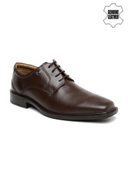 Arrow Men Brown Genuine Leather Formal Shoes