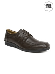 Arrow Men Brown Genuine Leather Derby Formal Shoes