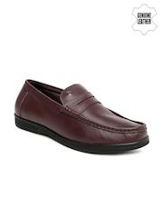Arrow Men Burgundy Genuine Leather Semiformal Slip-Ons
