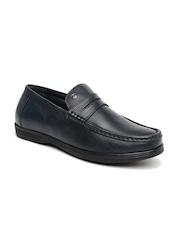 Arrow Men Navy Genuine Leather Semiformal Slip-Ons