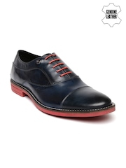 Arrow Men Navy Genuine Leather Semiformal Shoes