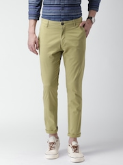 Mast & Harbour Khaki Anchor Slim Differential Length Chino Trousers