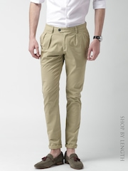 Mast & Harbour Light Khaki Slim Differential Length Pleated Trousers