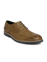 Allen Solly Men Brown Leather Brogues