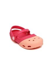 Crocs Girls Pink & Peach-Coloured Electro II MJ PS Clogs
