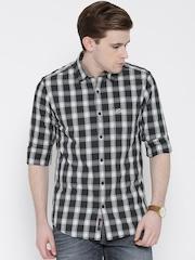 U.S. Polo Assn. Black & Grey Checked Casual Shirt