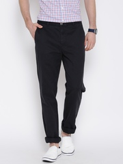 U.S. Polo Assn. Black Tapered Fit Casual Trousers