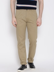 U.S. Polo Assn. Khaki Slim Fit Casual Trousers