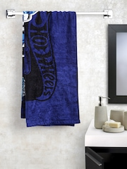 BOMBAY DYEING Boys Blue Printed Cotton 360 GSM Bath Towel