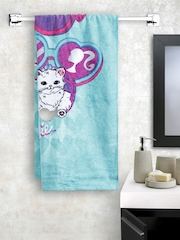 BOMBAY DYEING Girls Turquoise Blue Printed Cotton 360 GSM Bath Towel