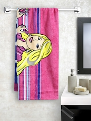 BOMBAY DYEING Girls Pink Printed Cotton 360 GSM Bath Towel
