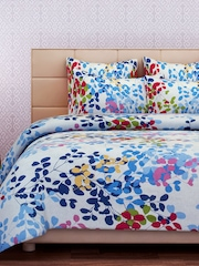 SEJ by Nisha Gupta White 160 TC Cotton Double Bedsheet with 2 Pillow Covers