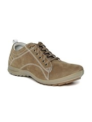 Woodland ProPlanet Men Olive Brown Leather Casual Shoes