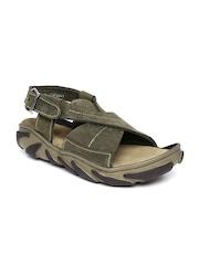 Woodland ProPlanet Men Green Leather Sandals