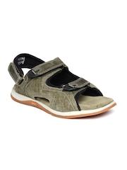 Woodland ProPlanet Men Olive Green Leather Sports Sandals