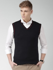 Mast & Harbour Navy Sleeveless Sweater
