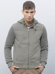 ETHER Grey Padded Hooded Jacket