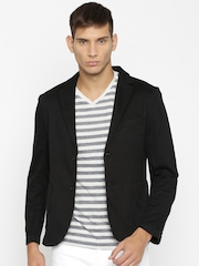 ether Black Single-Breasted Casual Blazer