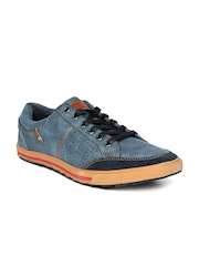 Numero Uno Men Blue Perforated Sneakers