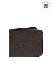Van Heusen Men Brown Genuine Leather Textured Wallet