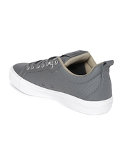 Converse Unisex Grey Leather Sneakers