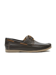 United Colors of Benetton Men Brown Leather Casual Shoes