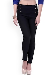 SASSAFRAS Black Skinny Jeggings