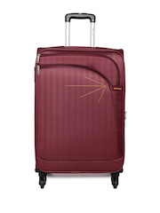 Safari Unisex Maroon Florite Medium Trolley Bag