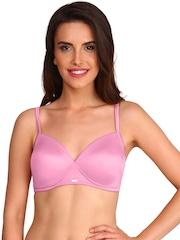 Jockey Pink Medium-Coverage T-shirt Plunge Bra 2103