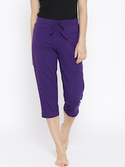 Jockey Purple Modern Fit Lounge Capris 1300-0105