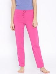Jockey Women Pink Slim Fit Lounge Pants 1301-0105
