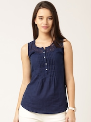 DressBerry Navy Chambray Top