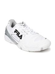 FILA Men White F Cage Delirium Indoor Tennis Shoes