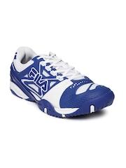 FILA Men Blue & White F Cage Delirium Indoor Tennis Shoes