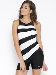 Lobster Black & White Striped Swimwear LB-3146