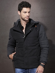 RDSTR Charcoal Grey Padded Jacket with Detachable Hood