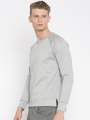 HRX by Hrithik Roshan Grey Melange Active Sweatshirt with Detachable Hood