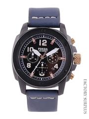 Fossil Women Black Chronograph Dial Watch FS5066