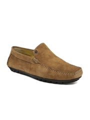 Van Heusen Men Brown Suede Loafers